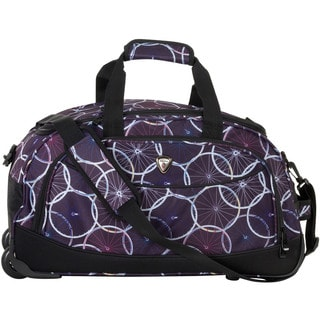 CalPak 'Plato' Purple Wheel 21-inch Carry-on Rolling Upright Duffel Bag
