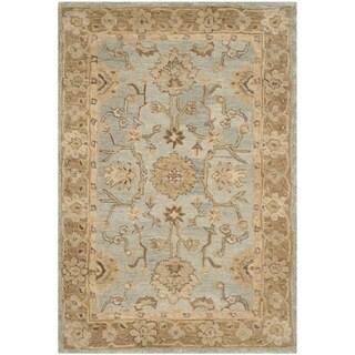 Safavieh Handmade Anatolia Light Blue/ Taupe Wool Rug (3' x 5')