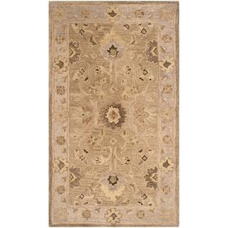 Safavieh Handmade Anatolia Tan/ Ivory Wool Rug (3' x 5')