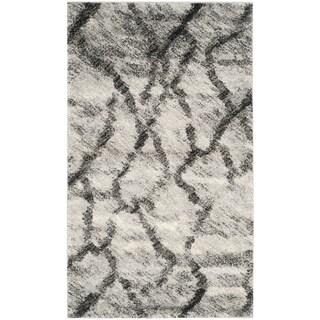 Safavieh Retro Light Grey/ Black Rug (3' x 5')
