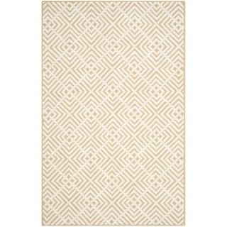 Safavieh Hand-hooked Newport Beige/ White Cotton Rug (7'9 x 9'9)