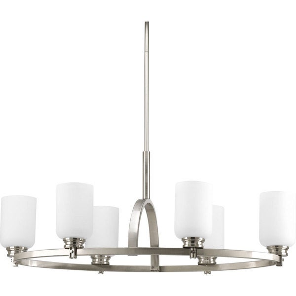Progress Lighting Orbitz Collection 6 Light Brushed Nickel Oval Chandelier Li