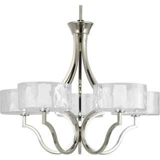 Progress Lighting Caress Collection 5-Light Polished Nickel Chandelier With Bulb Lighting Fixture