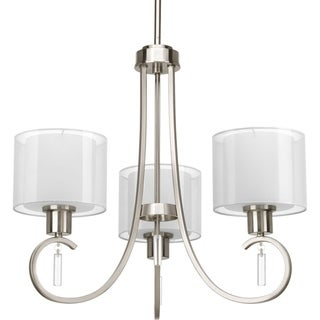 Progress Lighting Invite Collection 3-Light Brushed Nickel Chandelier Lighting Fixture