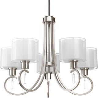 Progress Lighting Invite Collection 5-Light Brushed Nickel Chandelier Lighting Fixture