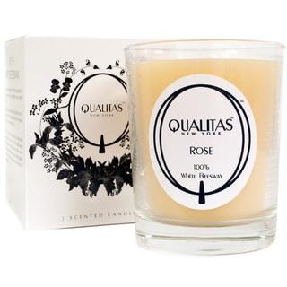 Qualitas 100-percent USP Pharmaceutical White Beeswax Rose Candle