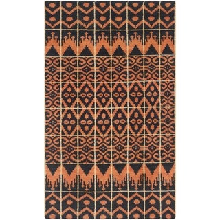 Safavieh Hand-knotted Kenya Orange/ Black Wool Rug (3' x 5')