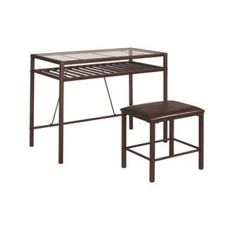 Bronze Metal Desk/ Stool Set
