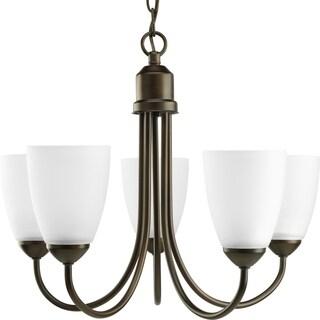 Progress Lighting Gather Collection 5-Light Antique Bronze Chandelier Lighting Fixture