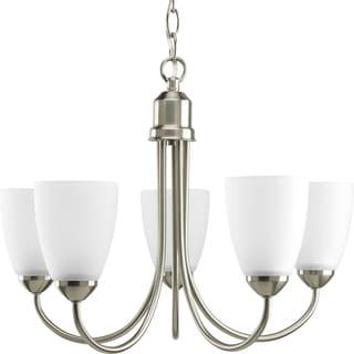 Progress Lighting Gather Collection 5-Light Brushed Nickel Chandelier Lighting Fixture