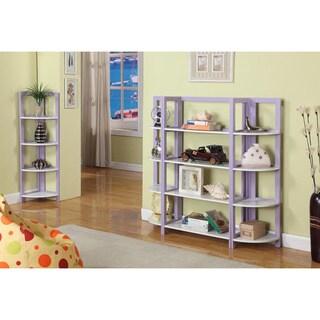 Two-tone Purple/ White Bookcase