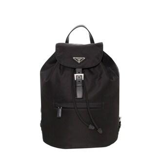 Prada 'Vela' Black Nylon Backpack