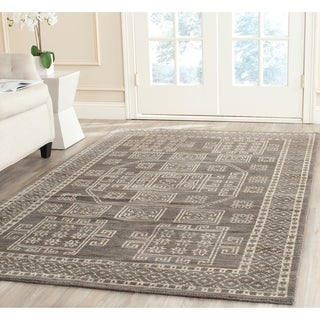 Safavieh Hand-knotted Kenya Grey Wool Rug (9' x 12')