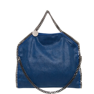 Stella McCartney 'Falabella Shaggy Deer' Small Beau Blue Fold-over Tote