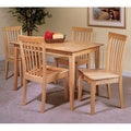 Natural Finish Wood Dining Table