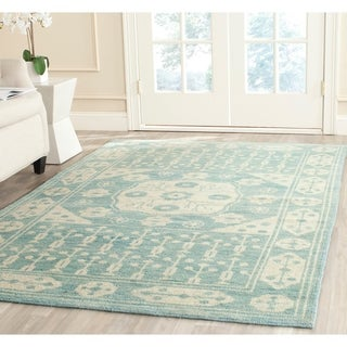 Safavieh Hand-knotted Kenya Blue Wool Rug (9' x 12')