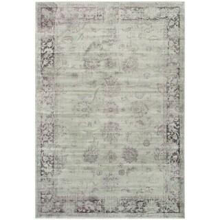 Safavieh Antiqued Vintage Grey and Amethyst Viscose Rug (8'10 x 12'2)