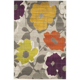 Safavieh Porcello Grey/ Yellow Rug (4'1 x 6')