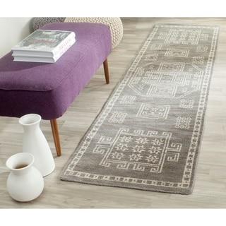 Safavieh Hand-knotted Kenya Grey Wool Rug (2'3 x 8')