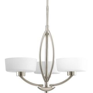 Progress Lighting Calven Collection 3-Light Brushed Nickel Chandelier Lighting Fixture