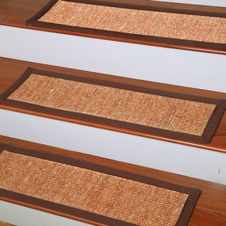 Handcrafted Origins Natural Fiber Sisal 9 x 29 Carpet Stair Treads (Set of 13)