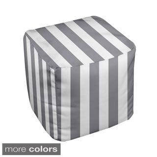 18 x 18-inch Stripe Decorative Pouf Ottoman