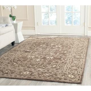 Safavieh Hand-knotted Kenya Brown/ Beige Wool Rug (6' x 9')