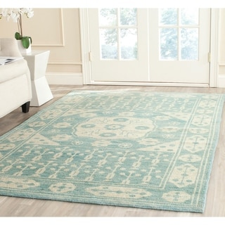 Safavieh Hand-knotted Kenya Blue Wool Rug (6' x 9')