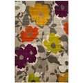 Safavieh Porcello Grey/ Yellow Rug (6' x 9')