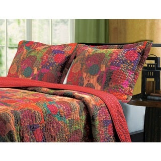 Greenland Home Fashions Jewel Multicolored Cotton Pillow Shams (Set of 2)