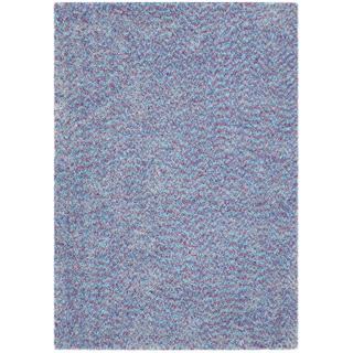 Vivoli Purple/ Blue Shag Rug (5' x 7')