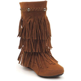 Blue Kid's 'K-Winona' Tan Fringe Boots
