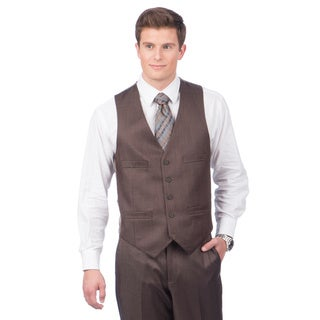 Kenneth Cole Creme Label Men's Slim Fit Brown Vest