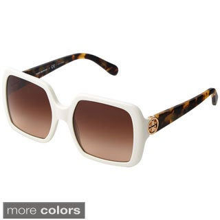 Tory Burch Women's 'TY7058' Plastic Square Sunglasses