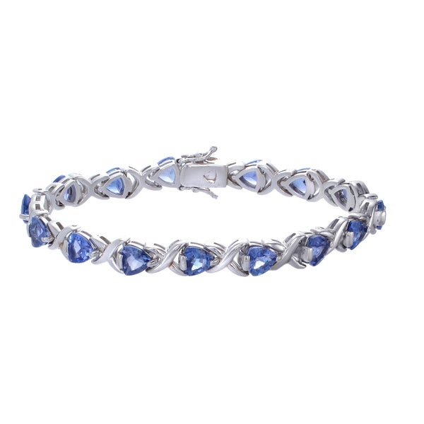 Sterling Silver 9ct TGW Tanzanite Bracelet