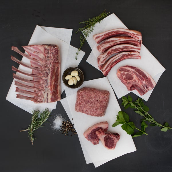 5280 Lamb 100-percent Grass-fed Grass-finished Half Lamb Bundle (20-25 Pounds)