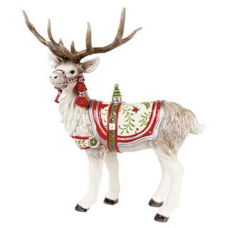 Winter White Holiday Deer Figurine