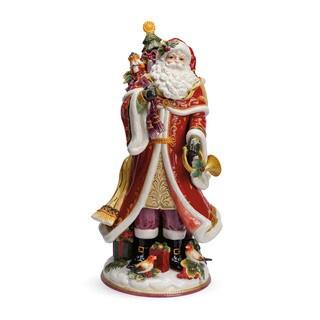 Fitz and Floyd Regal Holiday Santa Figurine