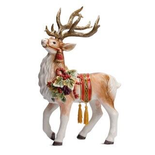Fitz and Floyd Regal Holiday Deer Figurine