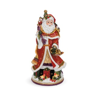Fitz and Floyd Regal Holiday Santa Musical