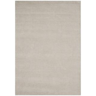 Alliyah Hand-loomed Beige New Zeeland Wool Rug (5' x 8')