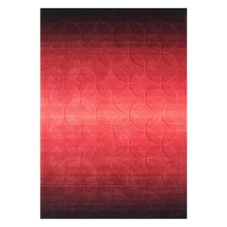 Alliyah Hand-loomed Poppy Red New Zealand Wool Rug (5' x 8')