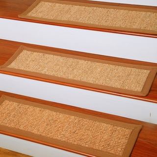 Handcrafted Oasis Natural Fiber Sisal Carpet Stair Treads (9x29 inches) (Set of 13)
