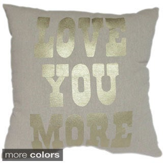 'Love You More' Throw Pillows (Set of 2)