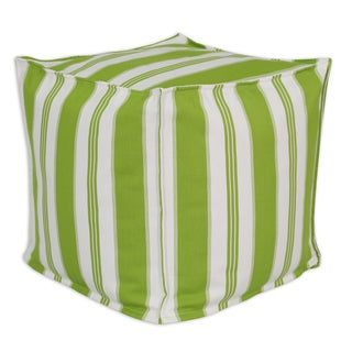Trade Winds Island Green 17-inch Square Seamed Beads Hassock Pouf