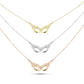 Tri-color Sterling Silver Cubic Zirconia Graduated 3-strand Mask Necklace