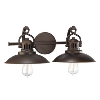 Urban Retro 2-light Vanity in Burnished Bronze