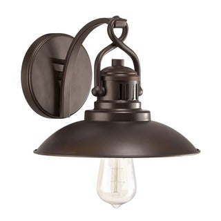 Urban Retro 1-light Wall Sconce in Burnished Bronze