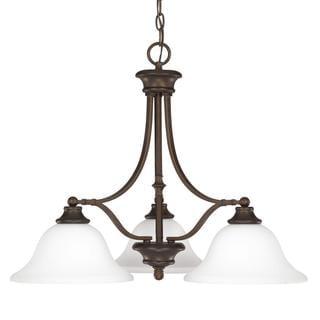 Capital Lighting Belmont Collection 3-light Burnished Bronze Chandelier