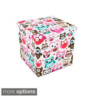 Vibrant Pattern Canvas-wrapped Storage Ottoman